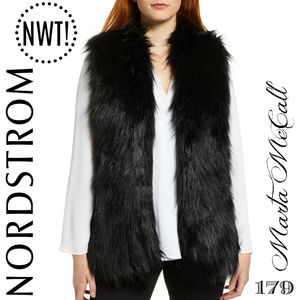 cf9d881736b86 ... NWT Black Faux Fur Over Lay Open Front Vest Size S ...